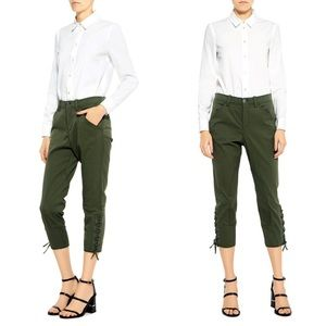 • Marissa Webb • Cooper Lace-Up Pants Army Green